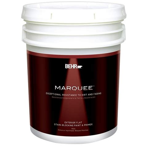 home depot paint prices 5 gallon behr marquee 5 gal base flat exterior paint 445305