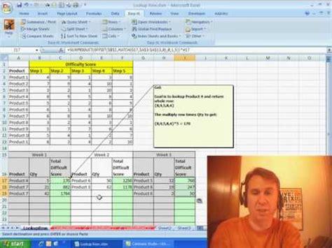 vlookup tutorial mrexcel excel vlookup multiple columns sumproduct lookup value