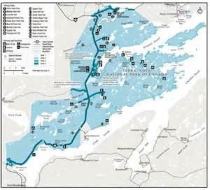 parks canada terra national park map