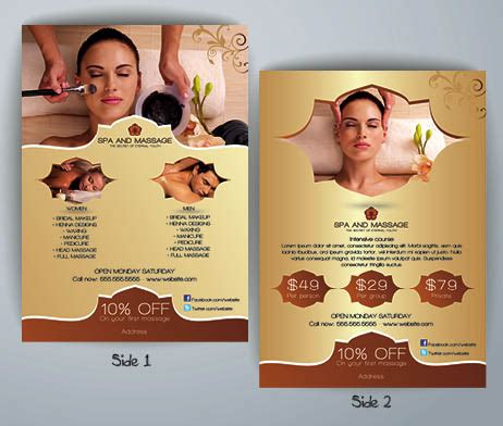 Spa Flyer Templa With Beauty Salon Flyer Template Free Psd Downl Yourweek 86fa2ceca25e Spa Flyer Templates Free