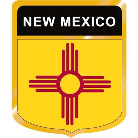 Display Case Lighting New Mexico Flag Crest Clip Art