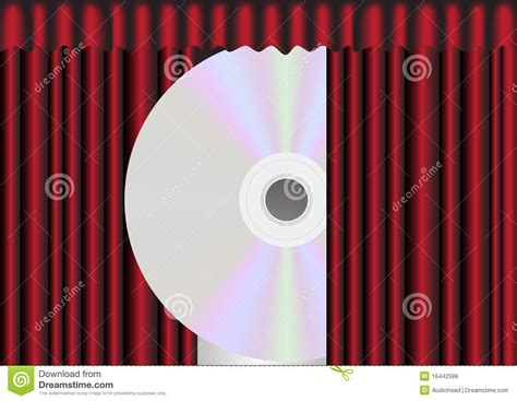 cd curtain cd disc behind red curtain royalty free stock photos