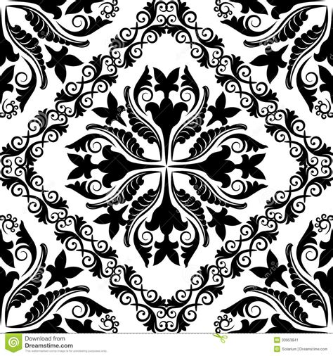 pattern baroque vector baroque pattern stock image image 33953841