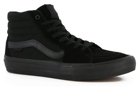 Vans Sk8 Black Gum Sole Waffle Icc vans sk8 hi pro skate shoes blackout free shipping