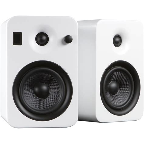 kanto living yumi powered bookshelf speakers yumiwht b h photo