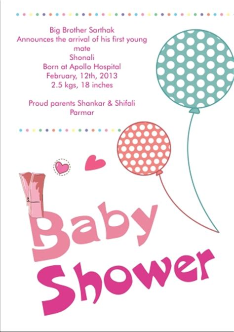 baby shower function invitation india baby shower invitation sms sempak 2b58a0a5e502