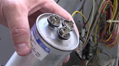 ac fan compressor not working how to test repair broken hvac run start capacitor air