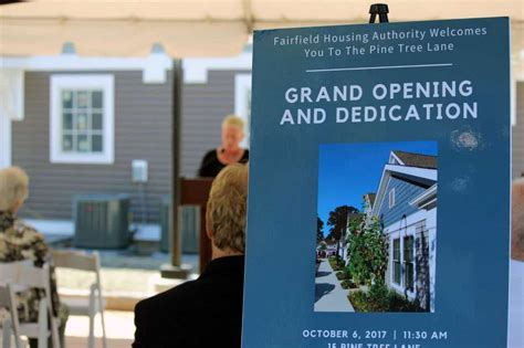 fairfield housing authority pine tree apartments host a grand opening celebration fairfield citizen