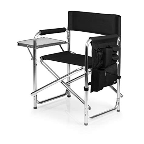 picnic time gardener folding chair with tools picnic time portable folding sports chair black