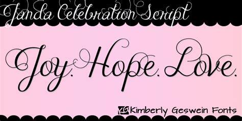 dafont script font janda celebration script font dafont com