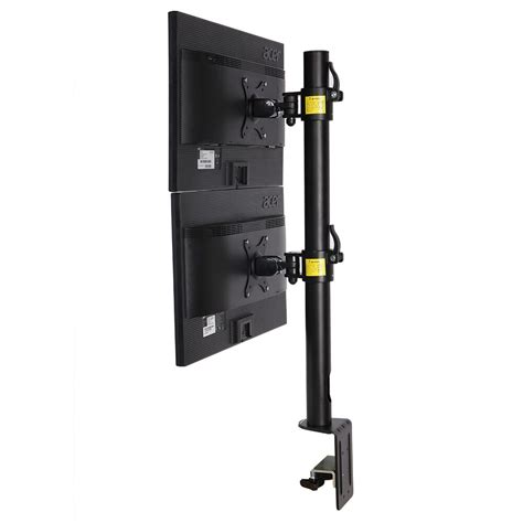 dual computer monitor desk mount stand vertical arrary for