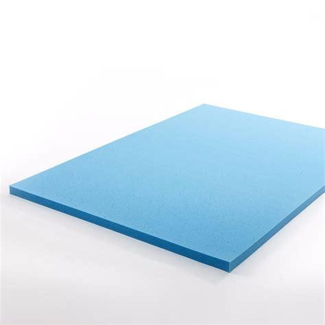 memory foam topper size mattress topper gel memory foam 2 inch comfortable cool support pad ebay