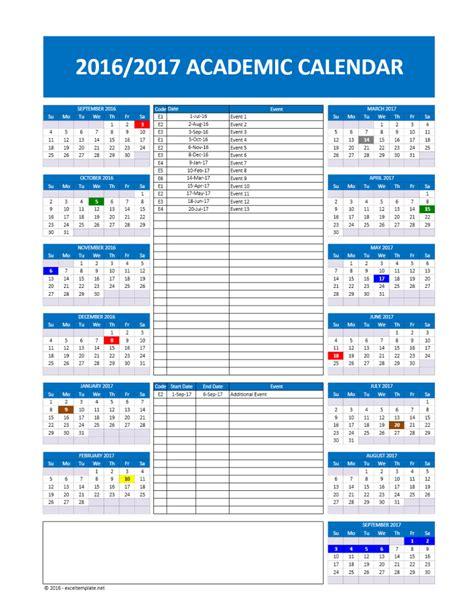 Calendar 2018 Models 2017 2018 And 2016 2017 School Calendar Templates Excel