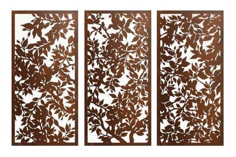 banksia screen triptych outdoor metal wall art