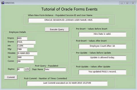tutorial oracle forms 6i oracle form s trigger tutorial with sle fmb fox infotech