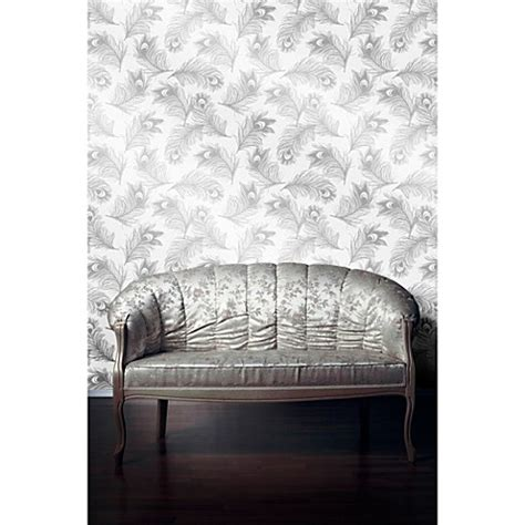 removable wallpaper clean tempaper 174 removable wallpaper in feathers silver frost