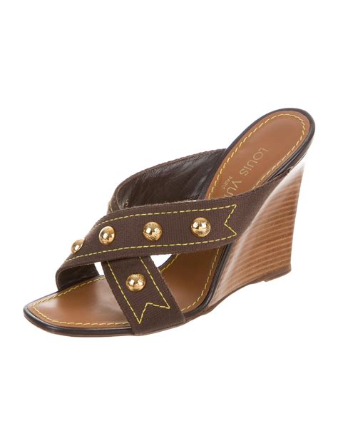 studded wedge sandals louis vuitton studded wedge sandals shoes lou108678
