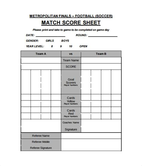 soccer referee score card template 26 images of soccer scorecards template linkcabin