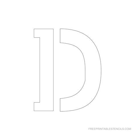 printable letter d stencil printable 3 inch letter stencils a z free printable stencils