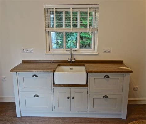 Painted Free standing Kitchen Belfast sink unit housing