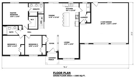 custom bungalow floor plans bobbs garage plans ontario canada