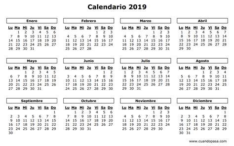 Calendario 2019 Colombia Calendario 2019