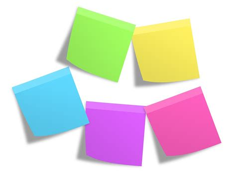 Origami Post Its - free photo postit memos notes colorful free image on