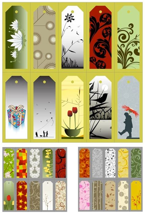 printable bookmarks pinterest bookmarks templates vector manilla designs pinterest