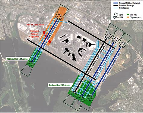 airport layout design jfk airport runway layout plan plan association report