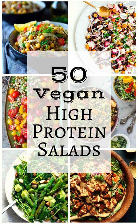 protein vegan recipes 50 vegan high protein salads the stingy vegan