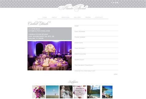 doodlebug website custom website design and brand for dallas florist haute