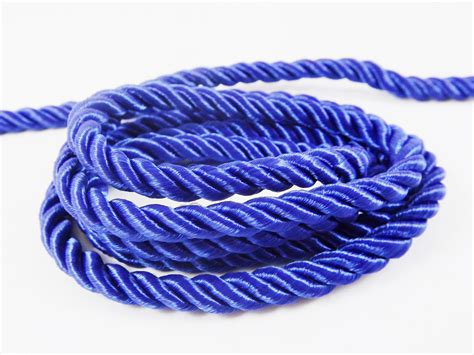 royal blue 5mm twisted rayon satin rope silk braid cord 3