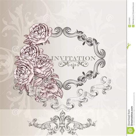 invitation card design elegant elegant wedding invitation card for design stock vector