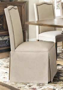 skirted parsons chairs dining room furniture slauson