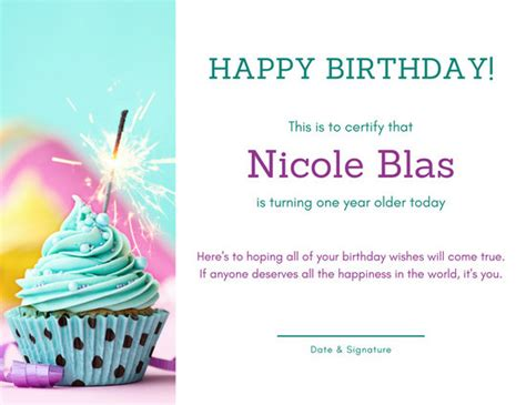 canva happy birthday birthday certificate templates canva