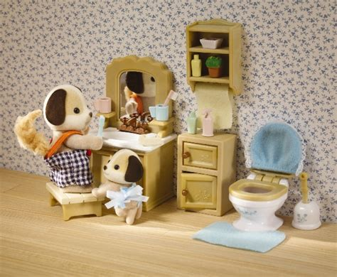 calico critters bathroom set calico critters deluxe bathroom furniture set new ebay
