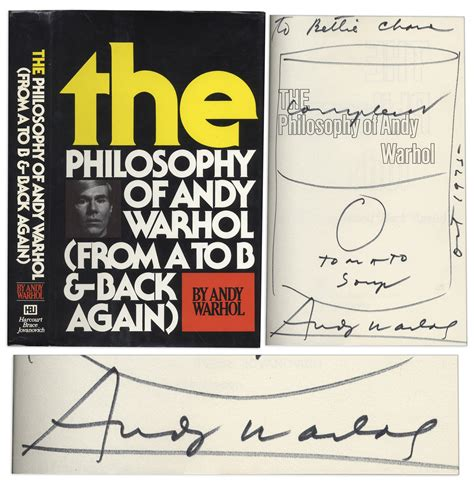Book Review If Andy Warhol Had A By Alison Pace by Lot Detail Andy Warhol Sketches His Cbell S