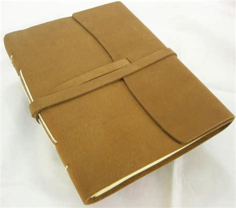 Handmade Paper Sketchbook - rugged handmade paper leather bound journal writing