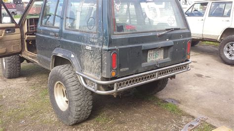 jeep xj stock bumper jeep xj rear bumper t m metal fabrication