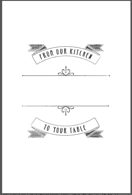 cookbook covers template design templates heritage cookbook