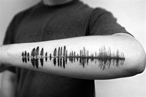 city line tattoo 50 tree line design ideas for timberline ink