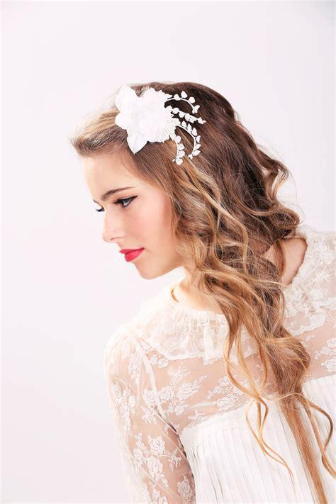 white wedding hairstyles white bridal flower clip wedding hair accessories wedding