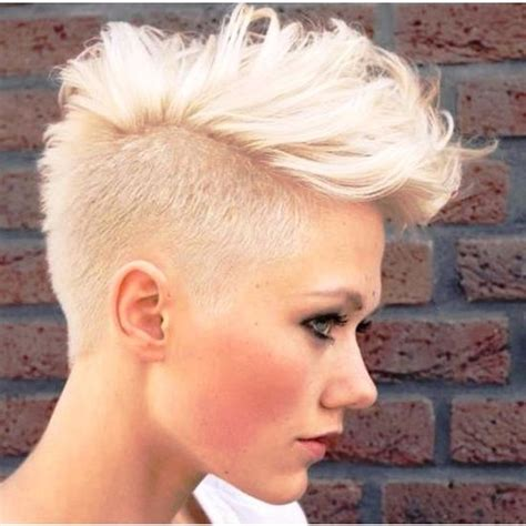 very short mohawk hairstyles for women how to do best celebrity faux hawk hairstyles for women