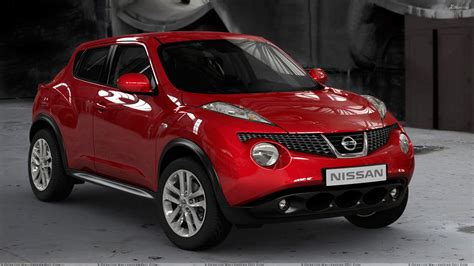 red nissan nissan juke 2011 front side pose in red wallpaper