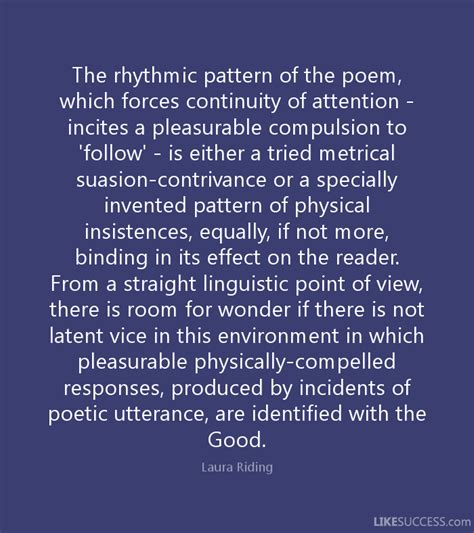 rhythmic pattern exles in poetry the rhythmic pattern of the poem which by laura riding