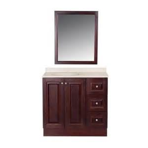 bathroom vanity mirrors home depot glacier bay northwood 36 in vanity in cherry with