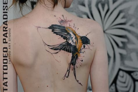 bird tattoos on back 29 fantastic watercolor bird tattoos