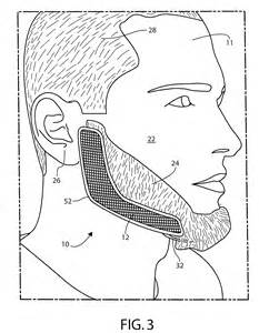 patent us20090223530 facial hair trimming template and