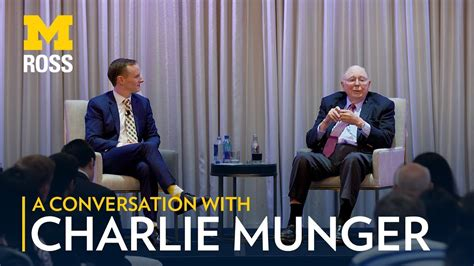 Of Michigan Ross Mba Commencement 2017 by A Conversation With Munger And Michigan Ross