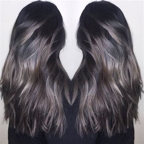 hair color for over 50 with cool toned skin love this a meld of cool toned silver and brunette color
